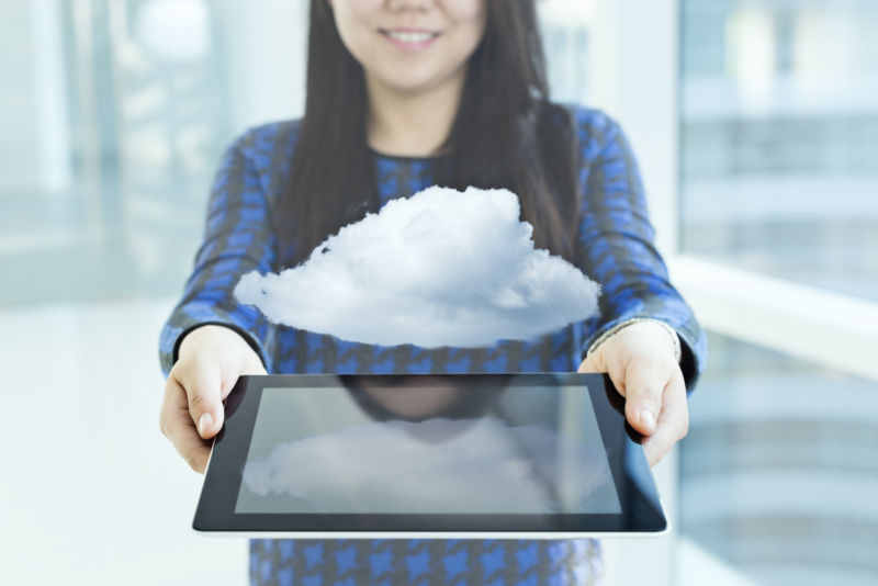 Artist's impression of a cloud service offering.