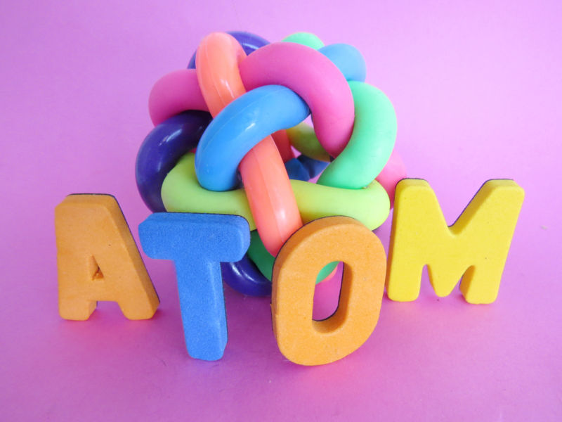 If only controlling electronically what is easy as building atom illustrations out of children's toys ...