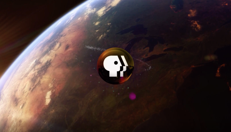 Image of a far-off planet with the PBS logo superimposed.