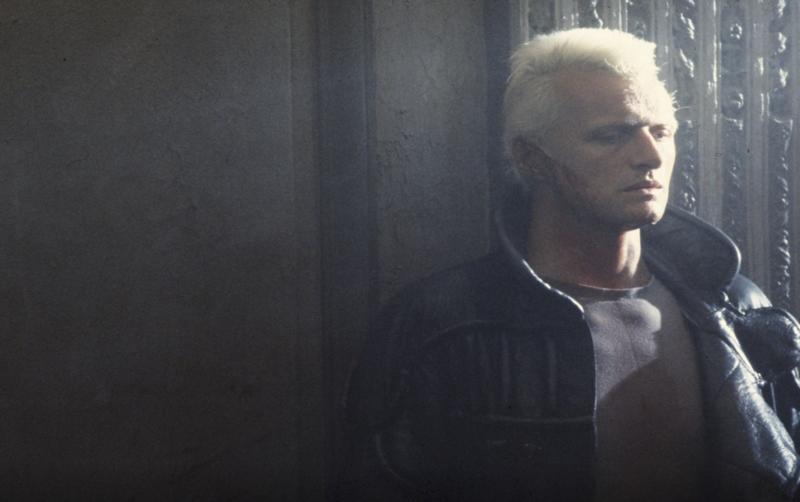 Hauer on the set of <em>Blade Runner</em>.