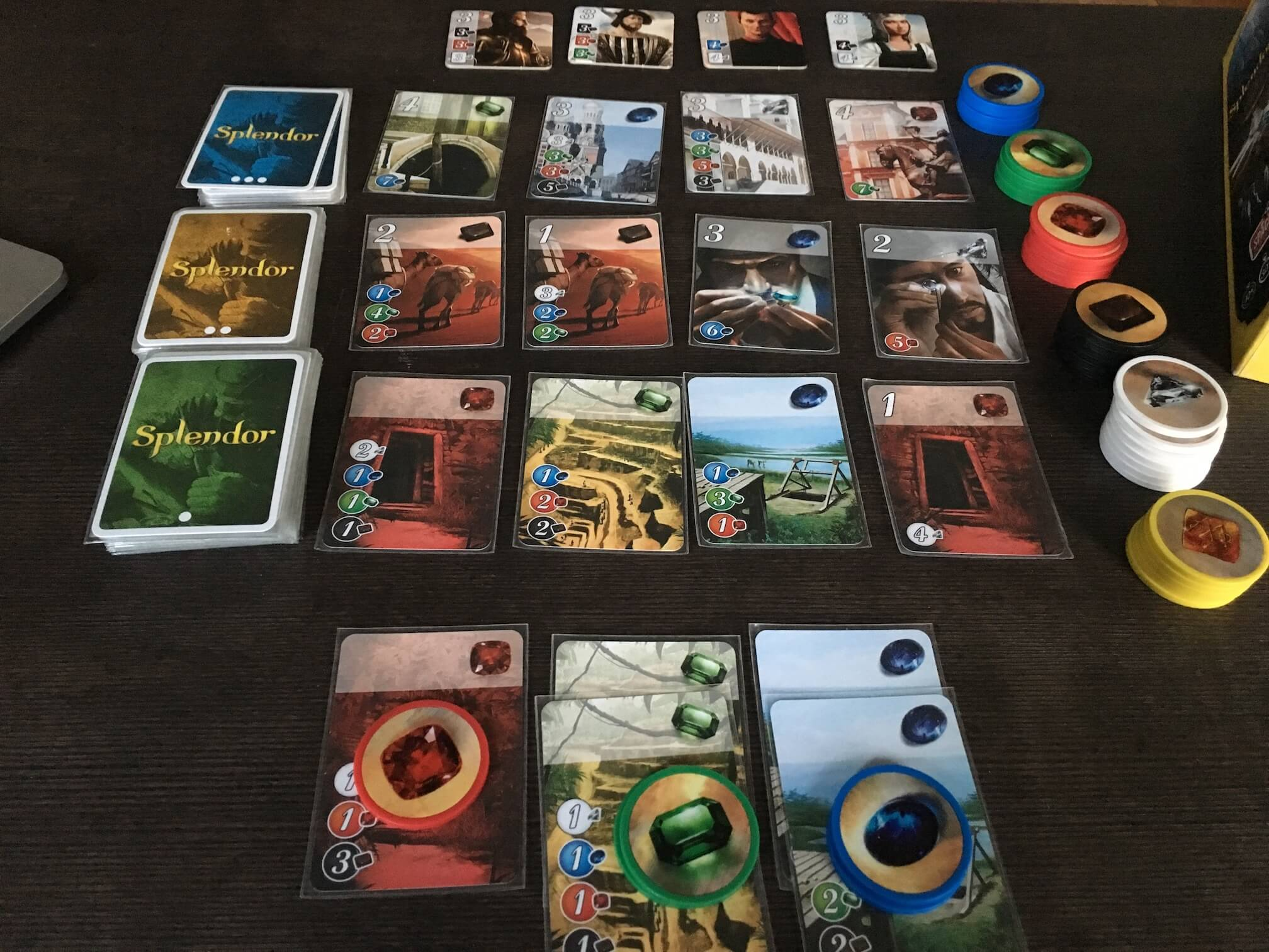 """Splendor is an accessible """"engine-building"""" board game with rounds that only take about 30 minutes."""