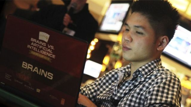 Online poker pro Dong Kim took on an AI program called Claudico in 2015. He lost to an updated program, Libratus, in 2017's rematch event.