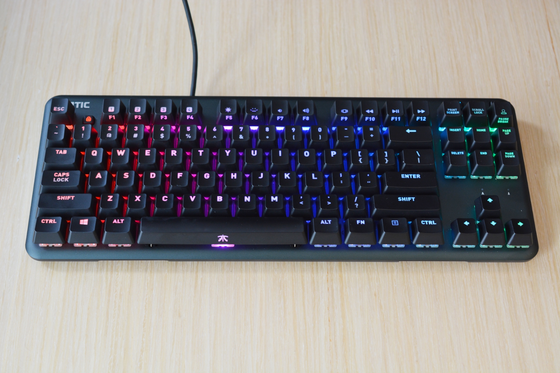 The Fnatic MiniStreak gaming keyboard.