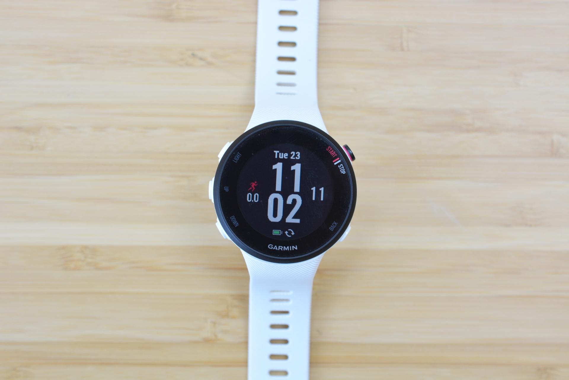 Garmin's Forerunner 45 GPS watch.