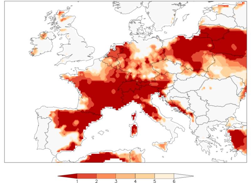 Stylized map of Europe.