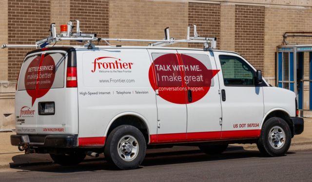 A Frontier Communications van.