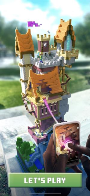 <em>Minecraft Earth</em>'s standard loading screen.