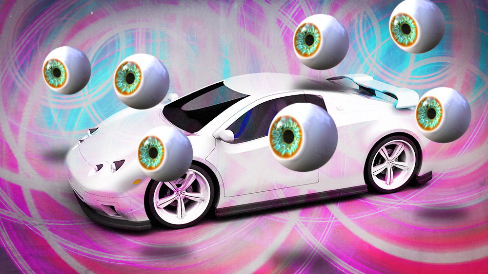 "I think we need to check on Aurich because I asked for ""some kind of abstract self driving car image,"" and this is what he gave me."
