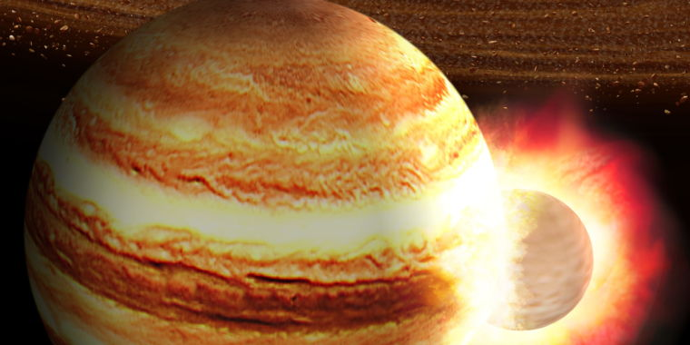Jupiter may have had a head-on collision with a massive protoplanet – Ars Technica