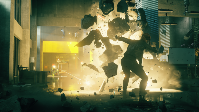 "This is what it looks (and feels) like to play the telekinetic insanity of Remedy Entertainment's latest game, <em>Control</em>.""><figcaption class="