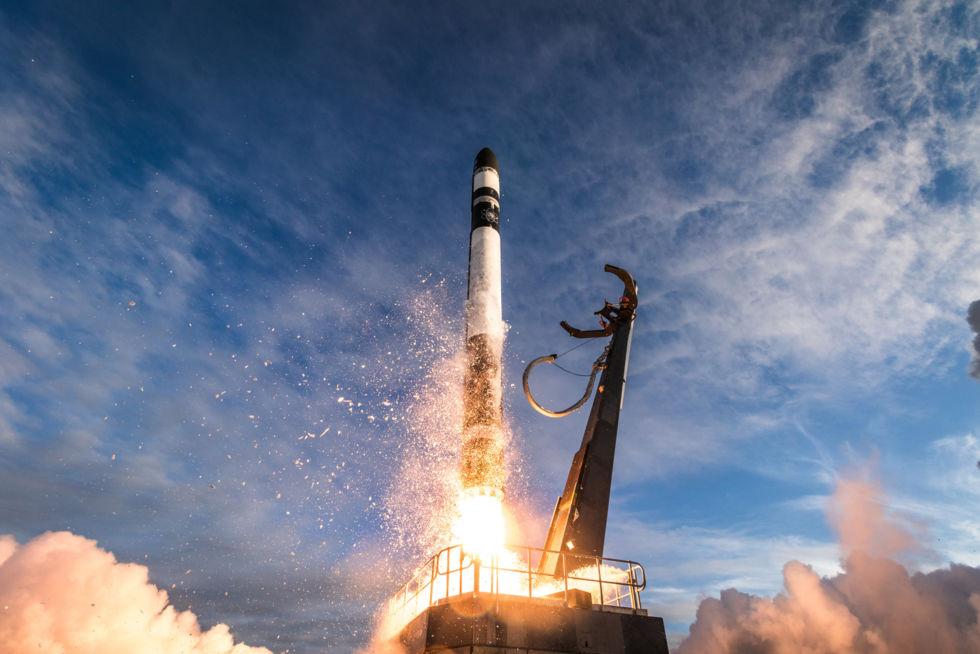 ELaNa19 mission liftoff of Electron rocket.