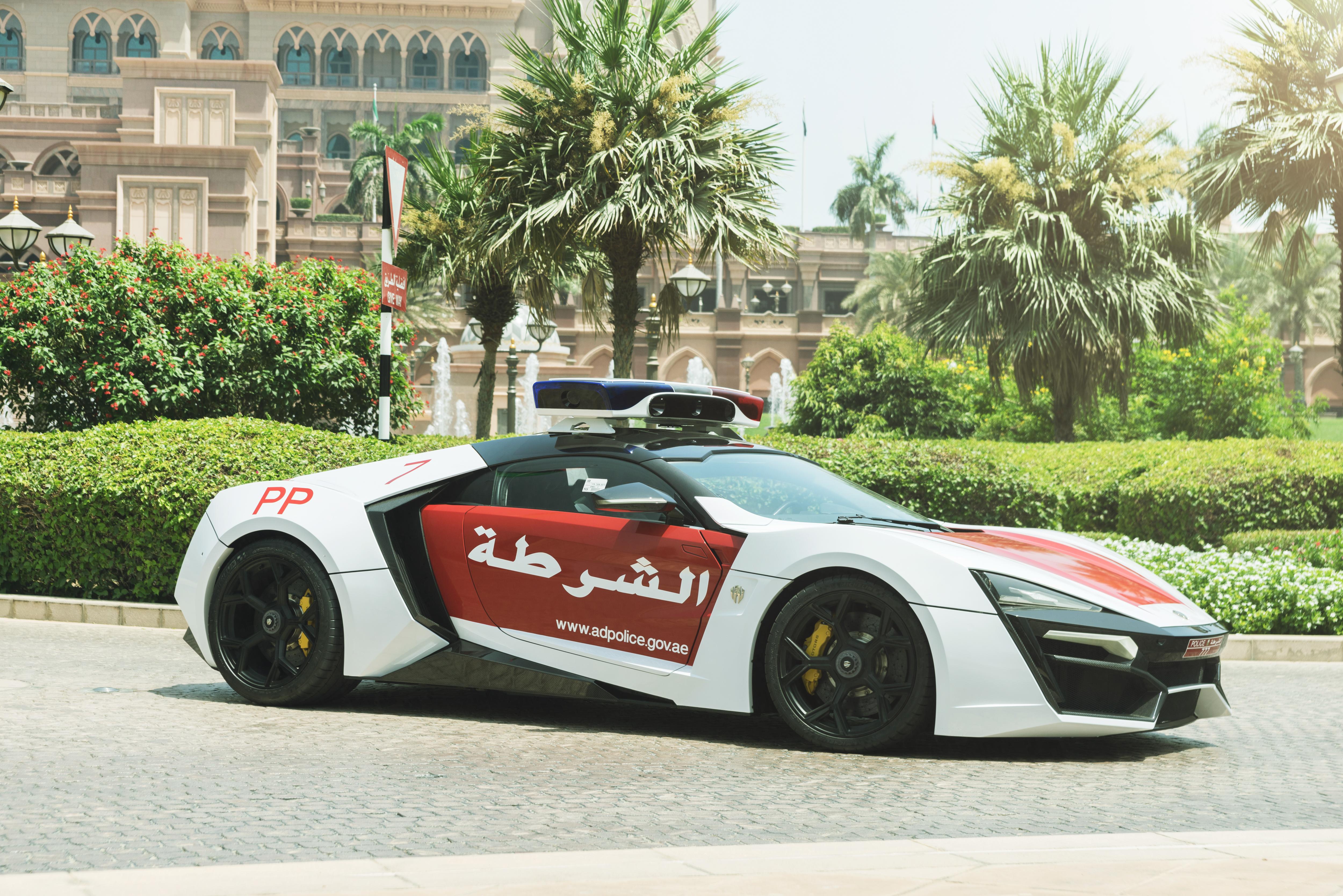Lykan HyperSport. This particular vehicle belongs to the Abu Dhabi Police.
