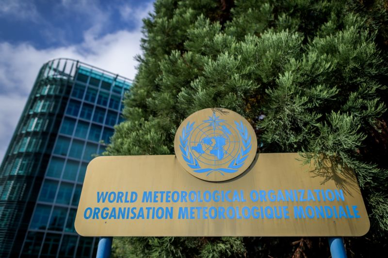 A view of the building of the World Meteorological Organization (WMO), hosting the 50th session of the Intergovernmental Panel on Climate Change (IPCC) on August 8, 2019 in Geneva.