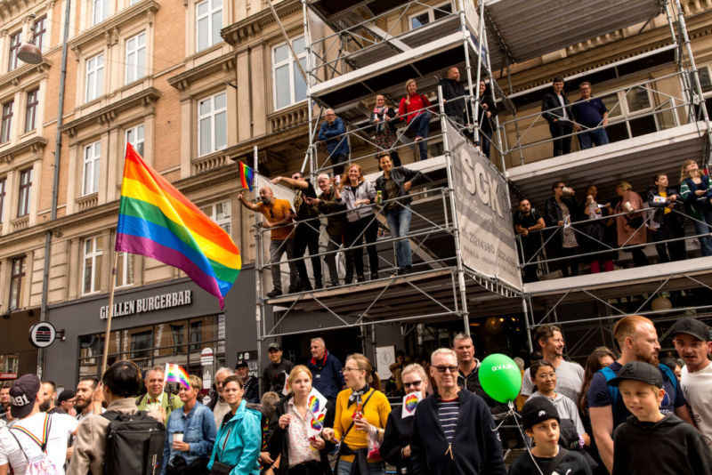 A scene from the Copenhagen Pride Parade.
