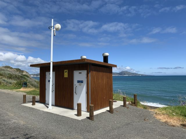 For the New Zealand rocket photographer in need, we found the next best thing: a pull off on the side of the road with a toilet. Not just any, a Wi-Fi-enabled toilet.