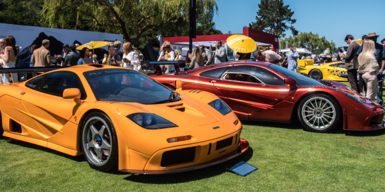 These McLaren F1s and Bugatti EB110s were the stars of Car Week