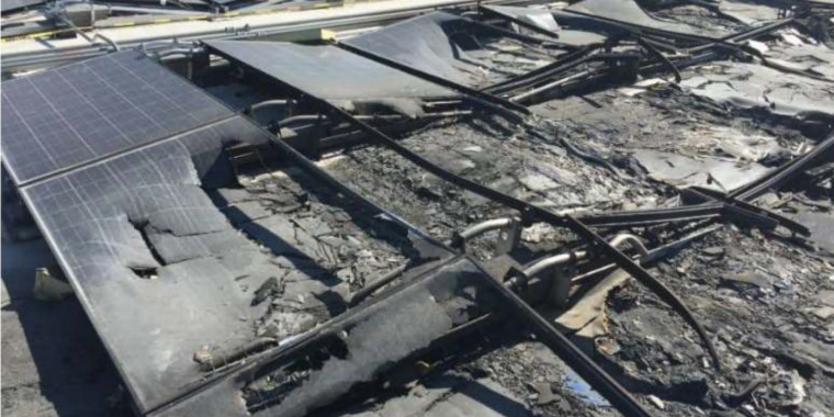 After seven roof fires, Walmart sues Tesla over solar panel flaws