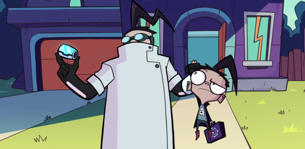 Dib and his scientist father have a nice subplot throughout the special.