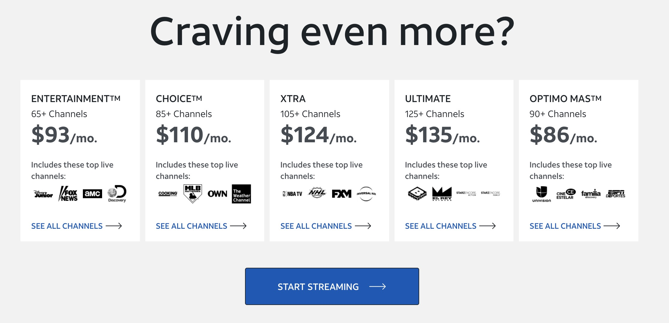 AT&T brings cable TV prices to online streaming with $135