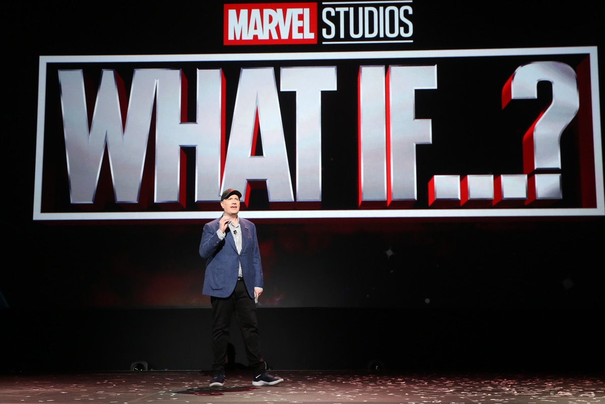 President of Marvel Studios Kevin Feige showed a trailer for the upcoming new animated series <em>What If...?</em> at Disney's D23 EXPO 2019.