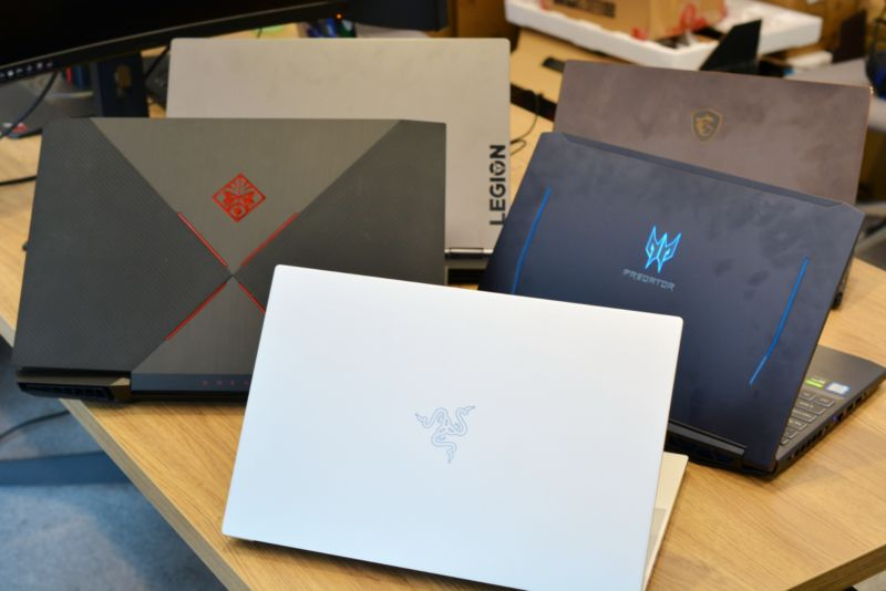 Amid the chaos of the Ars Gaming Week testing lab, we took a moment to snap a photo of <em>some</em> of our preferred gaming laptops. But are they right for you? Not necessarily! Hence, here's our careful guide on the topic.
