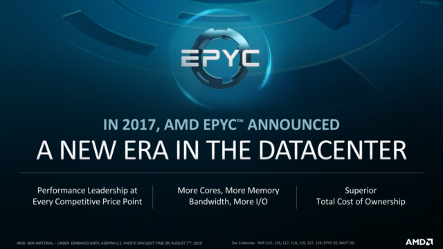 "A detailed look at AMD's new Epyc ""Rome"" 7nm server CPUs 