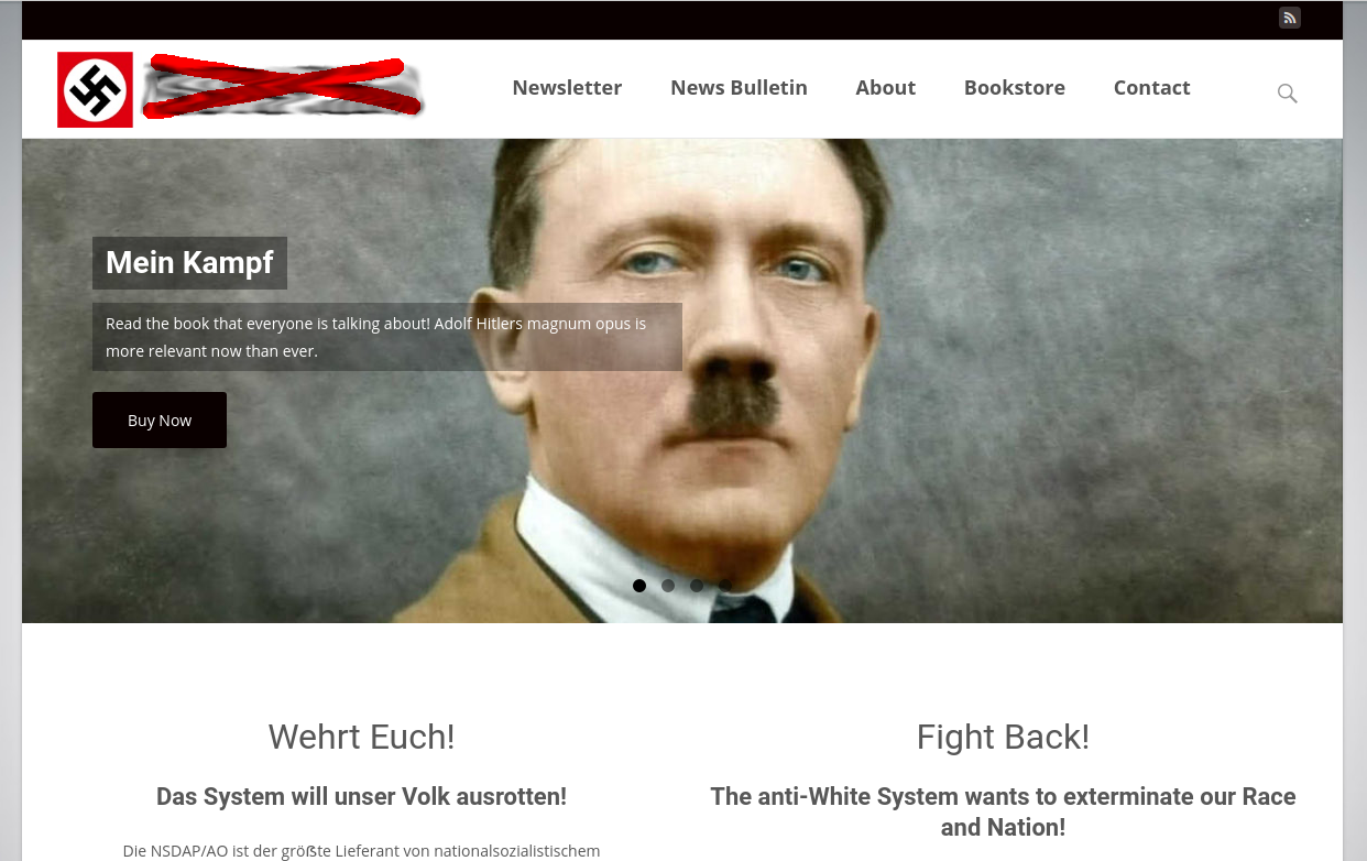 8chan resurfaces, along with The Daily Stormer and a Nazi site