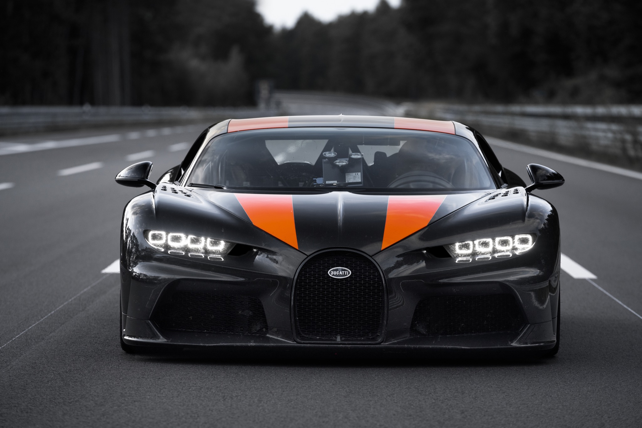 Bugatti found out just how fast the Chiron is, flat-out: 305