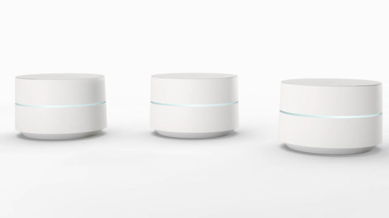 The first-gen Google Wifi.