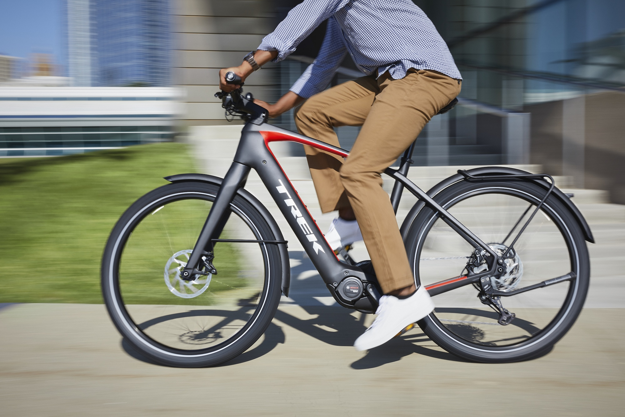 Pedaling with extra power: A look at Trek's new electric bike ...
