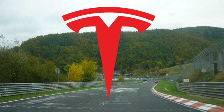 Tesla to take on Taycan's track time at the Nürburgring