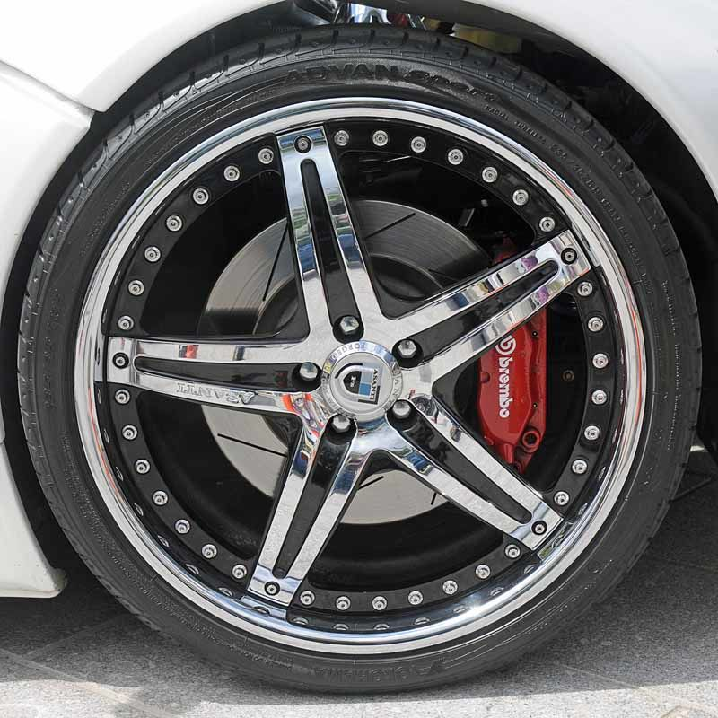 Image of a car's wheel.