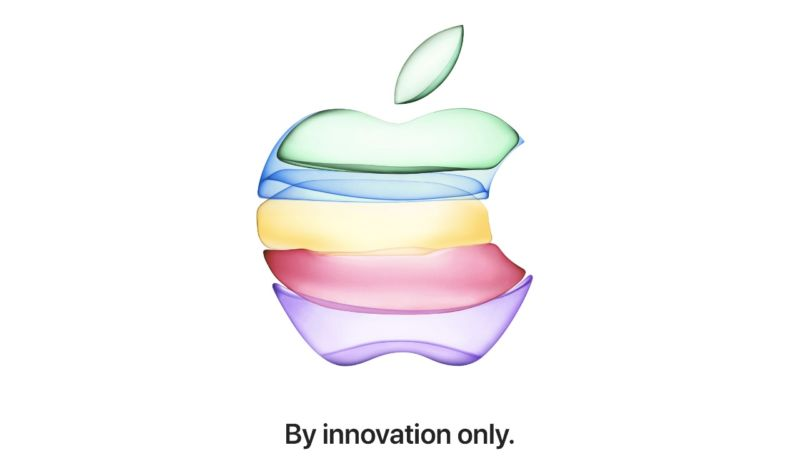 Stylized Apple logo.