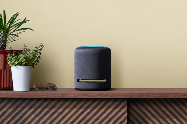 The Amazon Echo Studio speaker.