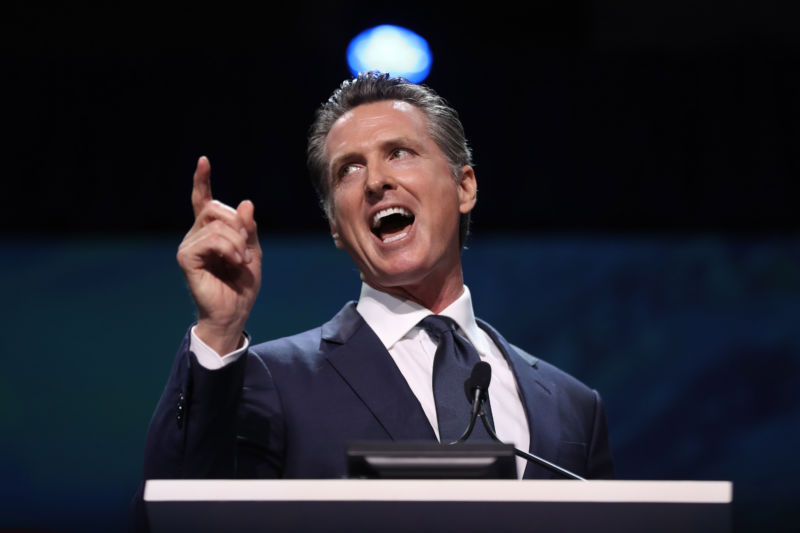 California Governor Gavin Newsom.