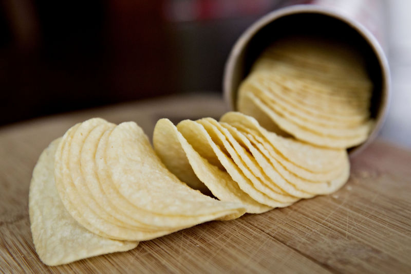 Kellogg Co.'s Pringles brand potato chips.