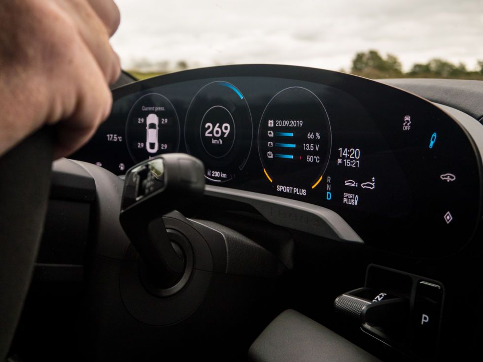 A guilt-free, emissions-free high-speed run. The car would happily sit at an indicated 269km/h on the autobahn as long as there was room to do it.