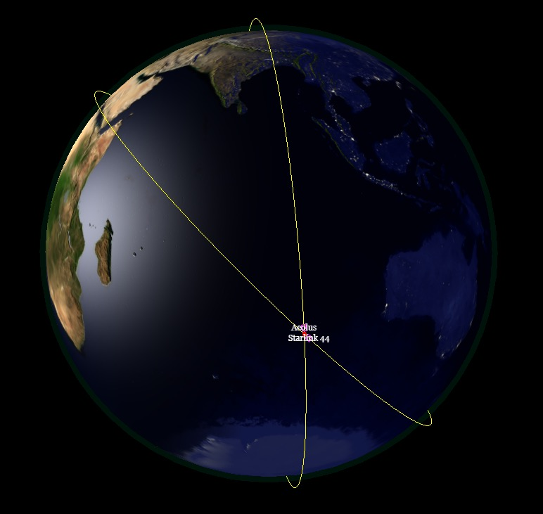 "The projected ""conjunction"" between Aeolus and a SpaceX satellite."