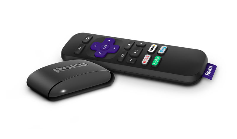 The new remote for the Roku Ultra media streamer.