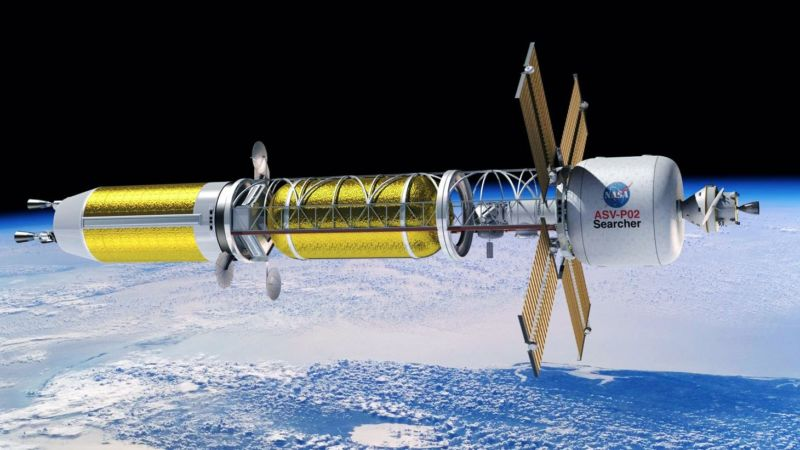 Nuclear rockets could be used to cut the travel time to Mars in half.