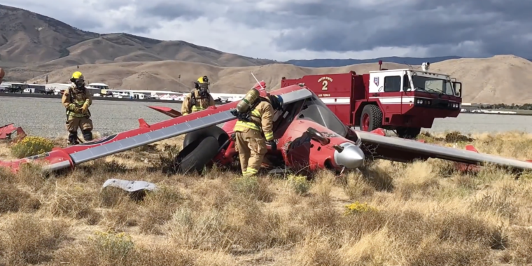 The world's best bush plane is destroyed on take off in Reno