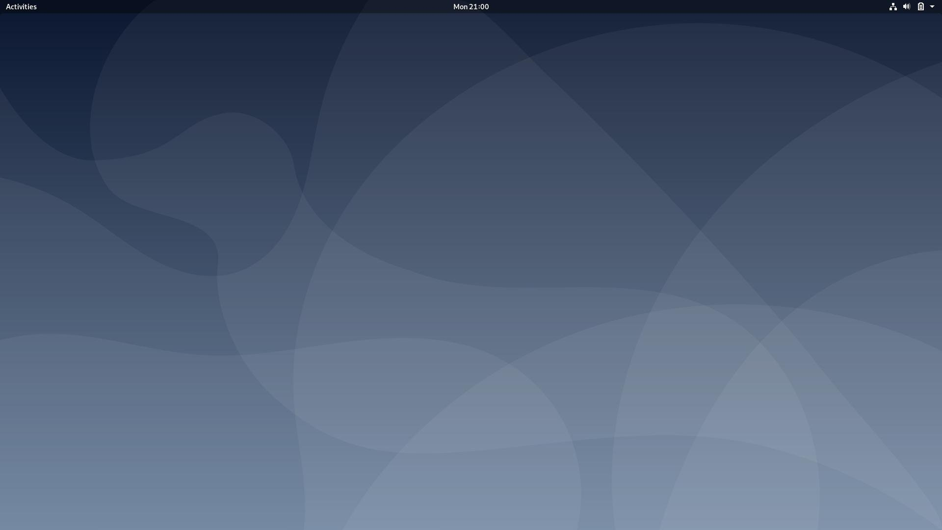 The default GNOME desktop on Debian 10.