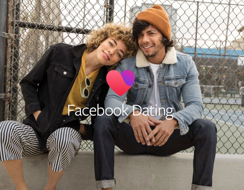 Promotional image for Facebook Dating app.