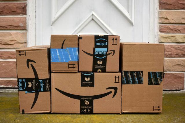 Amazon boxes.