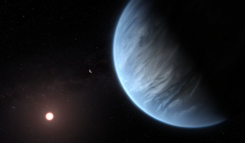 First water detected in the atmosphere of a habitable-zone planet