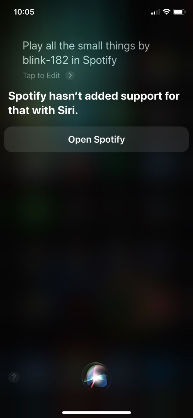 Siri can't do it if the app doesn't support it yet.