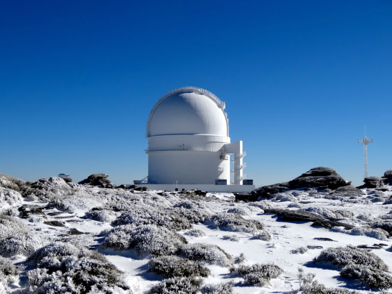 The Calar Alto Observatory in Spain, which was used to discover this planet.