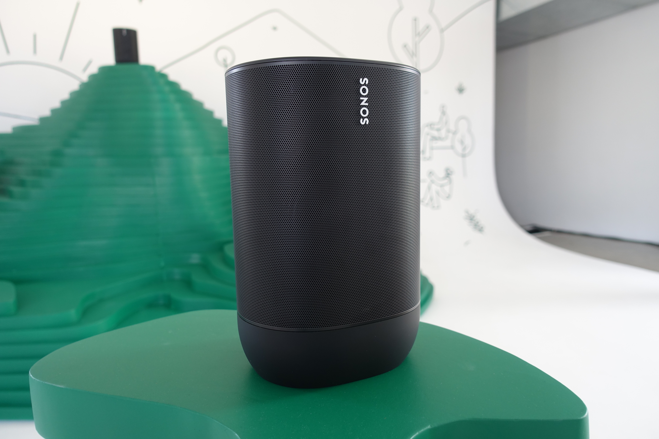 The Sonos Move offers excellent sound quality and works both over Wi-Fi and Bluetooth.