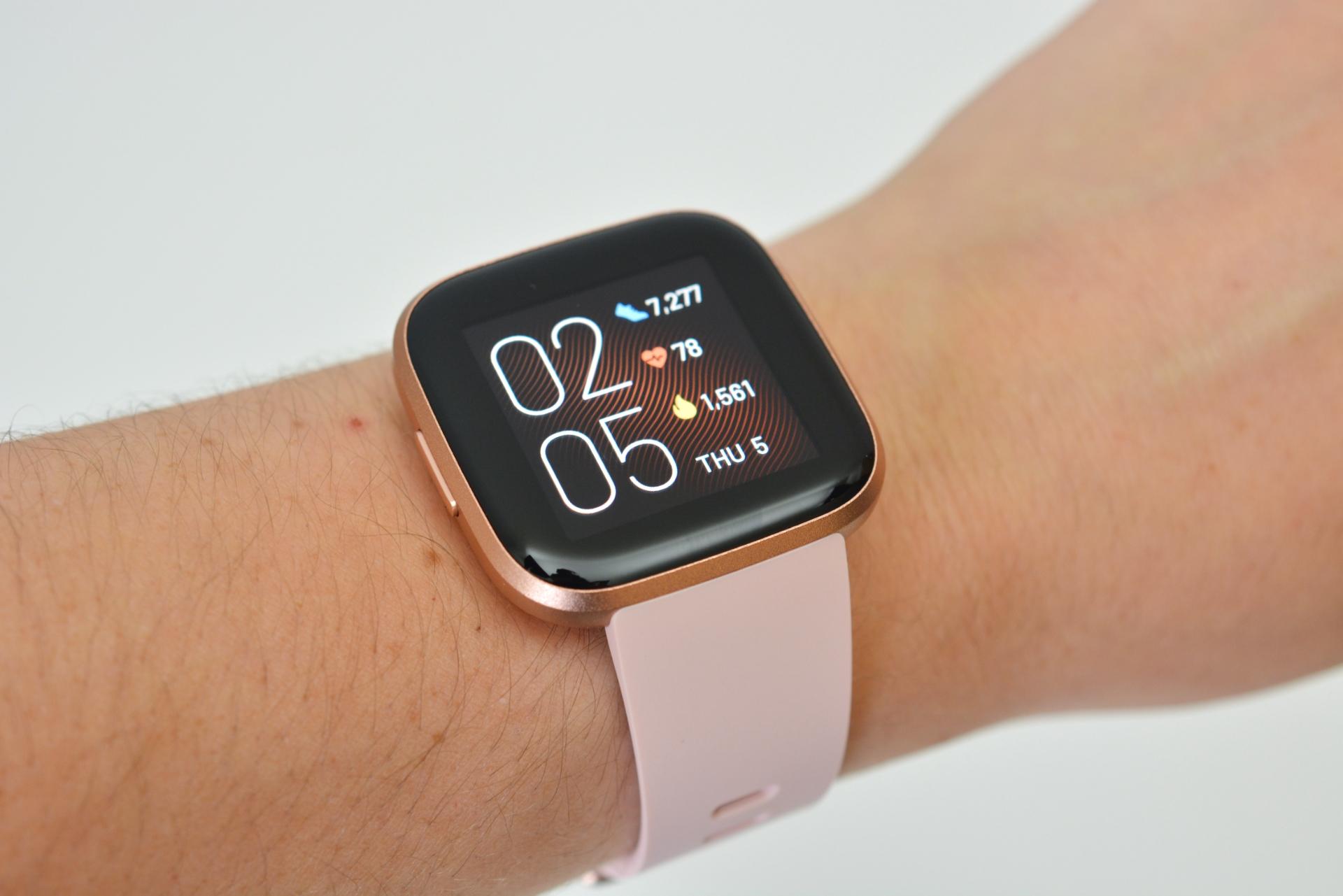 The Fitbit Versa 2 smartwatch.