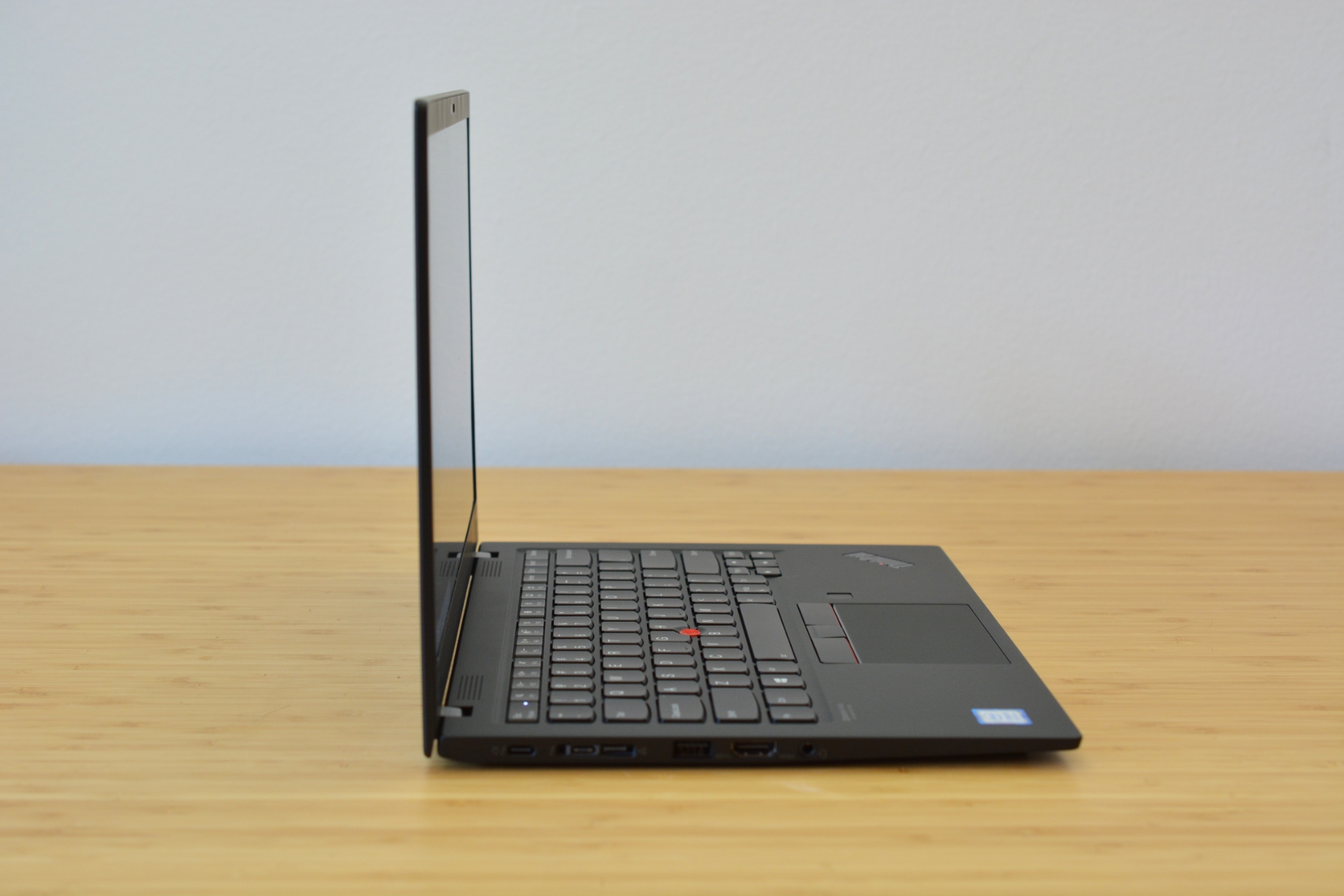 The thinner, lighter ThinkPad X1 Carbon 7th-gen.